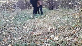 Hidden cam sex of two girls in a public place
