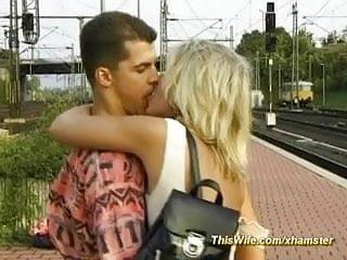 Nasty redhead pussy Train fucking with nasty wife