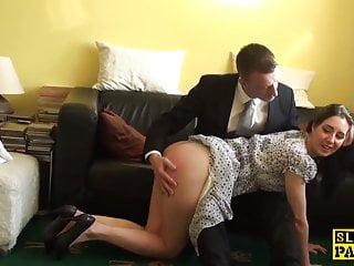 Bdsm maledom brutal Spanked british sub riding maledoms cock