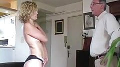 MILF model stripped naked, exposed and spanked hard