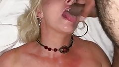 Big titty blonde facial