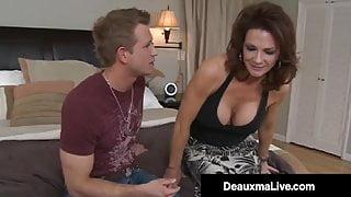 Big Titty Milf Deauxma Fucks Young Stud & Milks His Dick!