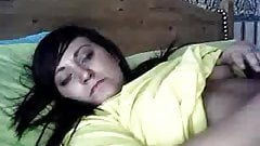 cute Danni reveals boobs on webcam