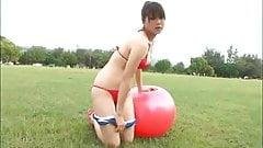 Mami Nagaoka Sexy Red Bikini - non nude