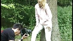 young german teen picked for outdoor sex