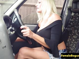 Hosiery riding black cock Bigtitted british cabbie riding black cock