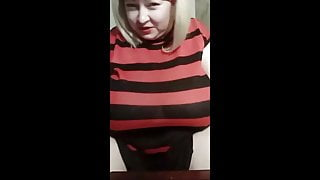 Russian mature Asya with huge tits shows herself