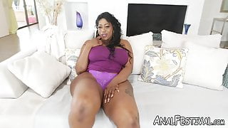 Enormous ass, Victoria Cakes rides big dick cowgirl style