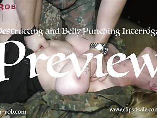 Free busty tit - Belly punching and busty tit torture interrogation sir rob