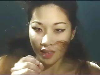 Bondage mermaid Asian mermaid gives an underwater blowjob
