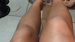 hot mexican slut Marcela playing with her soft feet