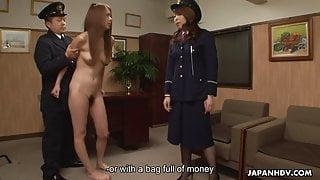 Asian naked prisoner goes through a Clockwork Orange treatme