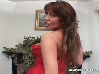 Asian suck tit Huge titted asian pornstar in hot red lingerie suck and fuck