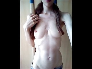 Small boobs striping My pale small boobs and horny hard nipples