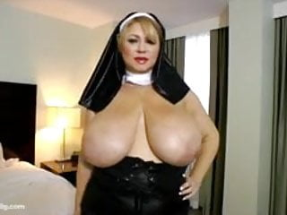 Sexy nun outfit Sexy milf bbw samantha 38 dresses up as nun plays with pussy
