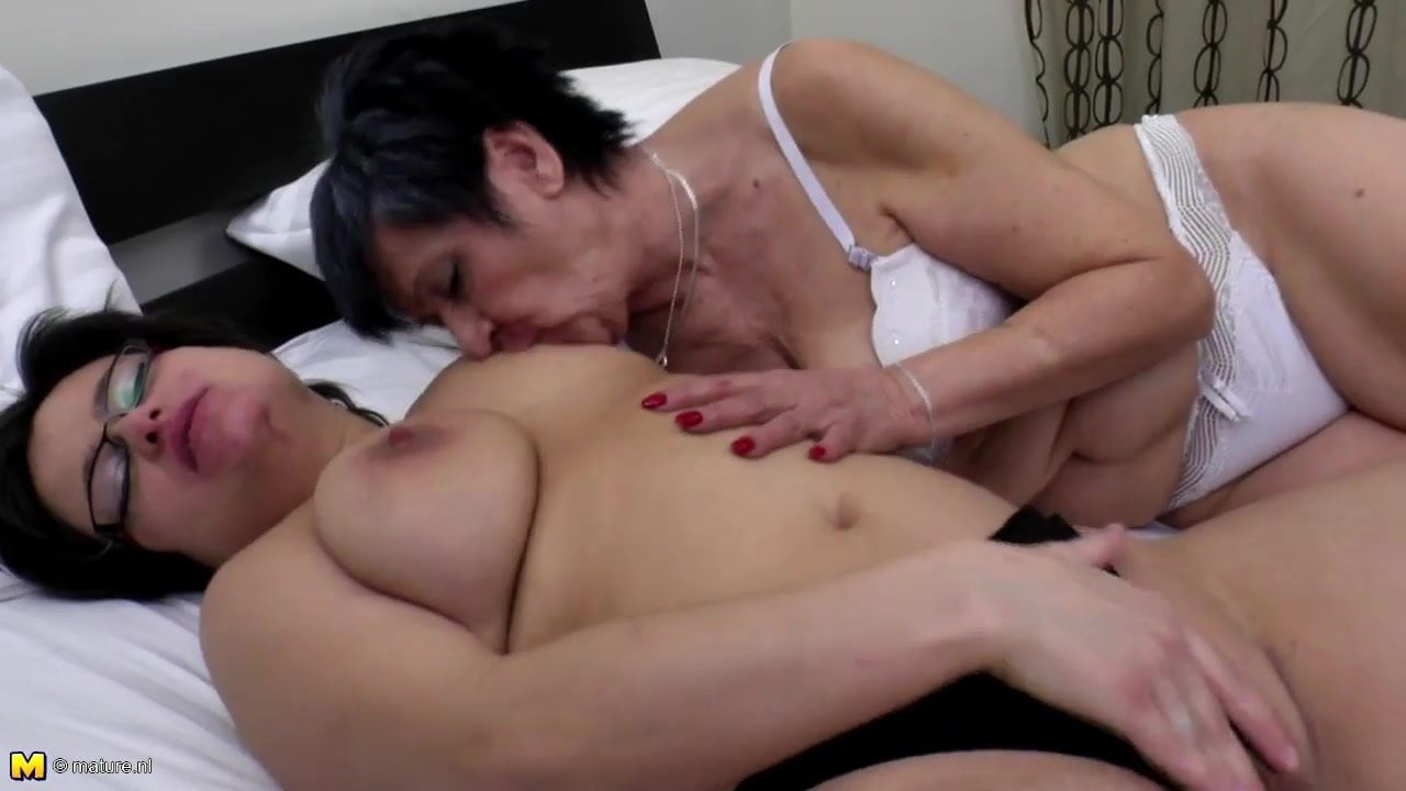 Mature woman seduces shy young girl