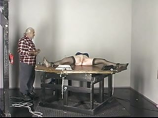 Sex slave punishment ideas Blonde slave tastes her ass juices after sucking dildo on the punishment table
