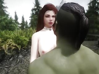 Girl has sex with odd object Girl has sex with orc