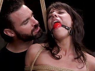 How to tie cock rope bondage - Petite fuck toy lexi foxy fucked hard in rope bondage and tr