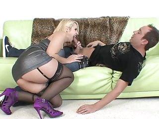 Really good sex - Blonde milf big tits in stockings heels fucks really good