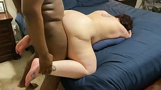 BBW serving as cum dump for young BBC