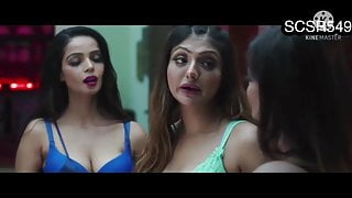 Hot and sexy desi roommates have romantic shower and sex