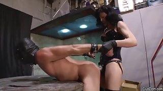 Femdom Pegging Slave