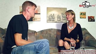 German mature old mother woman seduced younger stepson guy