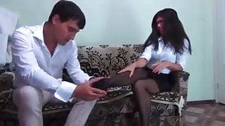 nylon foot job interview