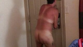 Dared wife to answer the door naked