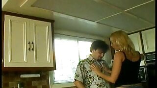 Pretty blonde floozie with perky tits enjoys fucking