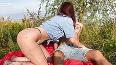 Public sex in the park with my wife after a picnic KleoModel