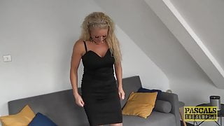 Roughly assfucked English wench getting fed with dom jizz