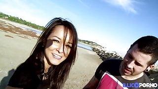 Hot Brazilian Francys Belle fucked on the beach