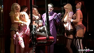 Batman Porn Parody Gangbang Group Sex Party with Catwoman
