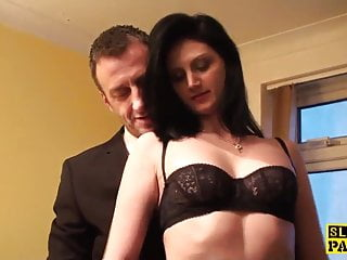 Cumswallowing orgy - Cumswallowing sub gets hands and legs bound