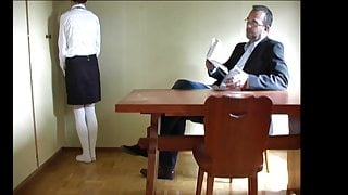 hard spanking of a schoolgirl