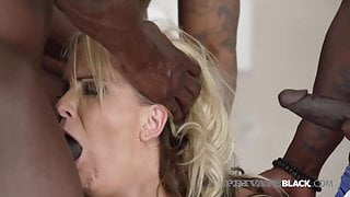 PrivateBlack - German Cougar Julia Pink Ass Packed By 3 BBCs