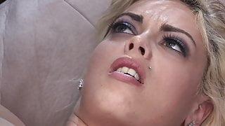 Huge Monster Big Black Cock and Big Fake Tits Blonde Sex