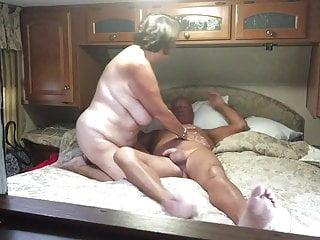 Grandma gives blowjob Grandma gives a great blowjob and handjob