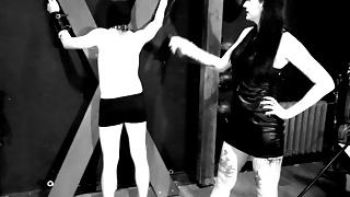 Dominatrix Nika is raising a slave