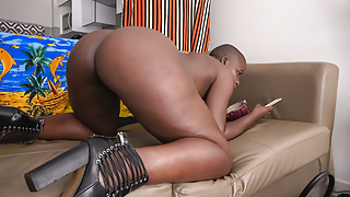 She has a bald head, but her black booty is SEXY AS FUCK