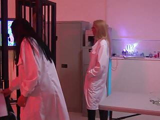 Sex in the lab Sexy babes get pounded by two prisoners in a lab