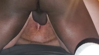 BBC Fucks and Nuts In GF's Fat Hole