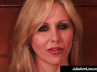 Webcam julia nude Busty blonde milf julia ann puffs on cigarette nude in bed