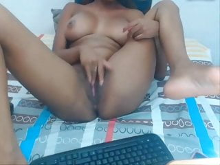 Girl rubbing her ass - Black latin girl is rubbing her clit like crazy