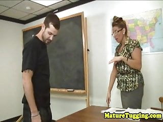 Stacie starr handjob movie thumbs - Mature teacher tugging younger guys cock