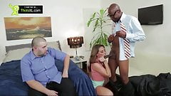 Husband Watches Wife Get Fucked By a Big Black Cock