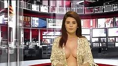 Zjarr Tv- Big Titted Newsreader Klesta