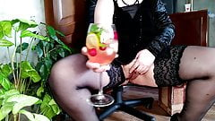 Russian milf and her natural cocktail